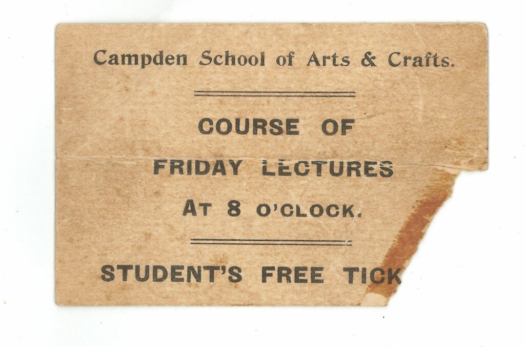 Student ticket owned by Harry Warmington, 1918